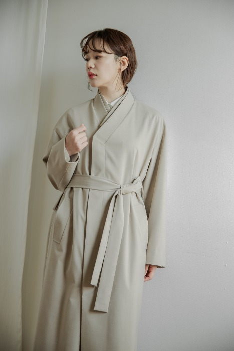 [7196 label] Double collar coat beige (단독 주문 시 선발송)
